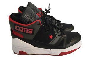 New Converse ERX 260 Mid Top Black/Enamel Red-Carbon Grey 265219C  Kids Size 6.5