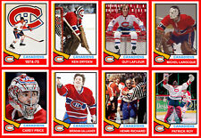 MONTREAL CANADIENS 1974-75 High Grade Custom Made Hockey Cards U-Pick THICK