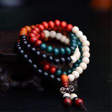 Sandalwood Buddhist Buddha Meditation 6mm 108 Prayer Bead Mala Bracelet Necklace