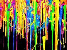 PITTURA COLORI Psichedelica allucinogeni Paint Drip Poster Art LV10534