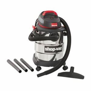 Shop-Vac, 6 Gallon 4.5 Peak HP Stainless Steel Wet/Dry Vacuum