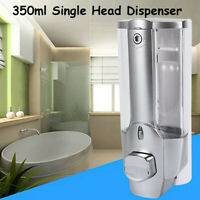 Wall Mounted 350ml Liquid Soap Dispenser Bathroom Hand Wash Shower Gel Pump UK