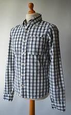 Men's Blue Checked Hollister California Shirt Size M, Medium.