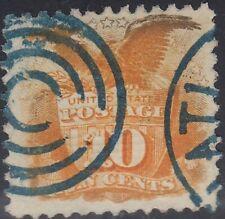 USA Scott #116 10ct 1869 Pictorial Used Blue Cancel CV $260