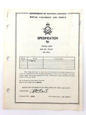 Department National Defence Royal Canadian Air Force Specification Shotgun K821