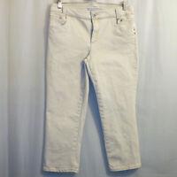 Chico's Platinum Denim Capri Jeans Women's Size 1 Beige