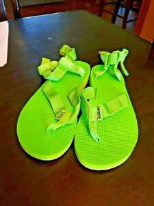 TEVA 1006932 Original Sandal Marbled US 7M LIME GREEN Ankle Strap Sandals Shoes