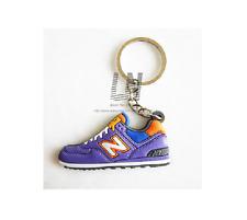 Jordon Basketball Sneaker Shoe Keychain Keyring Gift NEW Purple & Orange