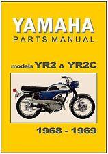 YAMAHA Parts Manual YR2 R2 & YR2C 1968 & 1969 Replacement Spares Catalog List