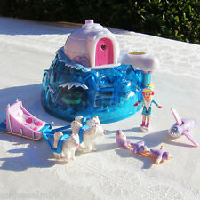 Polly Pocket Arctic Pets 100% Komplett Eisfischen CAMP IGLU Husky Pinguin 8 Fig.