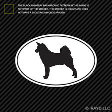 Canaan Euro Oval Sticker Die Cut Decal Self Adhesive Vinyl dog canine pet