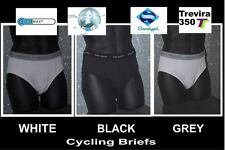 3 mens bike sport quality grey cycling briefs xl/ 8 36IN +   waist,   new /box