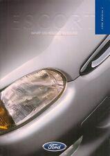 Ford Escort 1998 UK Market Sales Brochure GTi Ghia X Ghia Si LX CL Encore