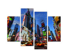 NEW YORK TIMES SQUARE CITY PRINTS FRAMED CANVAS WALL ART 4 PIECE WALL PICTURES