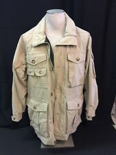 Vintage Woolrich Safari Barn Multi Pocket Coat Jacket zip up front Size Small
