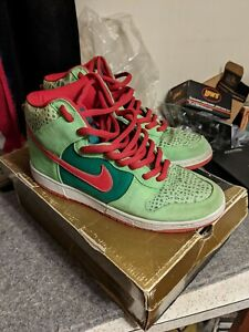 Nike Dunk High Pro SB Dr Feelgood Motley Crue Green Red 305050-362 Size 11
