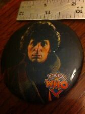 Doctor Who Tom Baker 1983 BBC Button Badge  USA Made Rare Elder Corp
