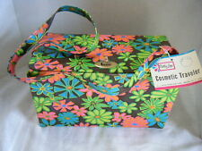 Vintage NWT Retro Mod Cosmetic Traveler Train case Tote Box Purse Bag