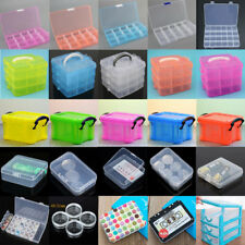 Plastic compartment Jewelry Adjustable Organizer Storage Container Box Case Lot