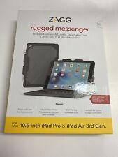 "ZAGG Rugged Messenger Keyboard Folio Case for Apple iPad Pro Air 3 10.5"" ID9RMK"