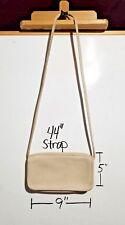 Vintage Coach Handbag Shoulder Bag Made In New York City NYC Cream Leather Cross