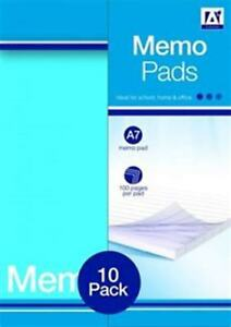 A7 Memo Pads Notebooks Small Pocket Sized Notepad Ruled Lined Pages Stationery