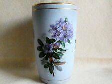$$ DROP FLORA PLATEEL GOUDA HOLLAND Vintage Ceramic Cup Vase Purple Rhododendron