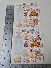 NRN DESIGNS VINTAGE BABY BOY TOYS BEARS STICKERS SCRAPBOOKING A3118
