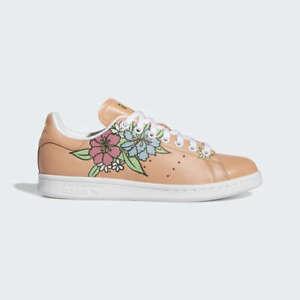 ADIDAS Women's Stan Smith Primegreen Ambient Blush Cloud White Floral Shoes 9 US