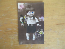 Fantasy postcard Doll with Eyes Eyballs Real Photo