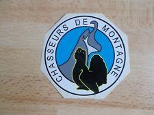 Autocollant CHASSEURS DE MONTAGNE