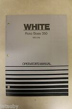 WHITE ROTO BOSS 350 990-049 Operator's Manual rototiller catalog 11/1973 catalog