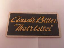 Vintage Ansells Bitter Beer Mat Coaster