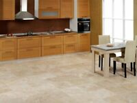Denizli Beige Travertine Tile – Honed and Filled - 12″x12″x3/8″