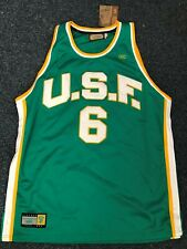 BOSTON CELTICS USF DONS BILL RUSSELL REPLICA GAME JERSEY COLLEGE COLLECTION NEW