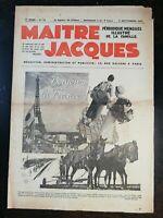 MAITRE JACQUES N°73 - 5 septembre 1937 Bonjour la France