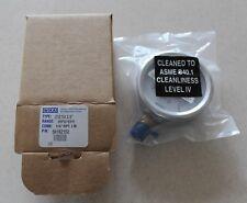 "Wika Pressure Gauge 2.5""    30 PSI/BAR Cleaned to ASME B40.1 Level IV"