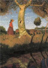 Kunstkarte / Postcard Art - Otto Modersohn:  Sonniger Herbsttag