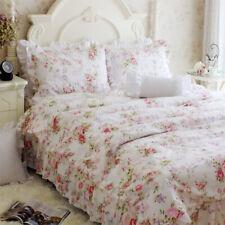 3 PCS Romantic Pink Bulgaria Rose Floral Duvet Cover Bedding Set Full Queen King