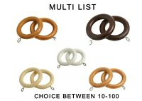 Wooden Pole Rings 5 colors, Multi choice 10/20/50/100 rings