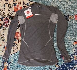 Castelli FLANDERS 2 W LS Womens Long Sleeve Thermal Cycling Base Layer Gray M