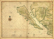 A3 Poster – Map of California Shown as an Island 1650 by Joan Vinckeboons (Art)