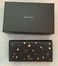 PVP £ 350 Paul Smith Mujer Azul Marino Tri Fold Wallet BNWT Y Caja