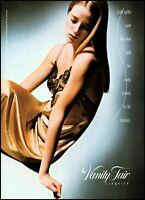 1990 woman wearing slip Vanity Fair lingerie vintage photo print Ad ads33