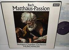 SET 288/91 Bach Matthaus-Passion Stuttgart Chamber Orchestra Munchinger NB 4LP