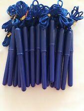Wholesale Pack of 24 Blue Barrel Rope on Pen, 1.0mm Tip, Ink: Black