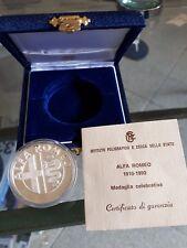 ALFA ROMEO---MEDAGLIA ARGENTO UFFICIALE ZECCA RARA 1910/1990