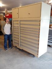 Lista Industrial 20-drawer Tool / Parts Cabinet - MASSIVE!!! (Ex-MIL.)