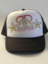 ac67258f402 Rock Star Energy Drink SnapBack Trucker Hat Brown White Unisex