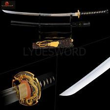 Handmade KATANA Full Tang Samurai Sword Dragon Tsuba 1060 Carbon Steel Blade